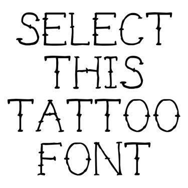 Chicano Traditional Tattoo Font