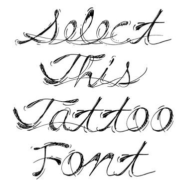 Real Script Tattoo Font