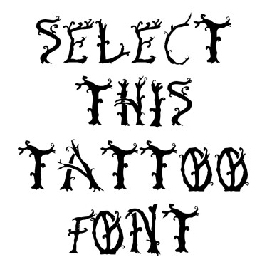 Bosque Encantado Tattoo Font