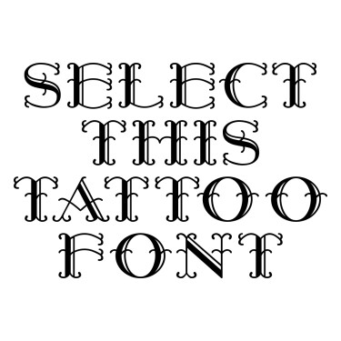 HarryPiel Tattoo Font