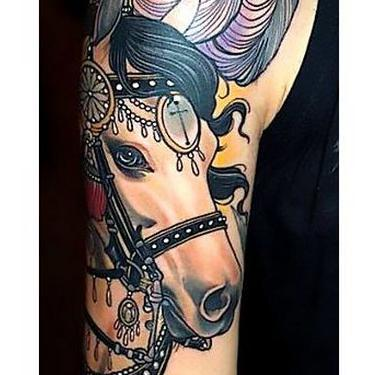 Beautiful Horse Head Tattoo