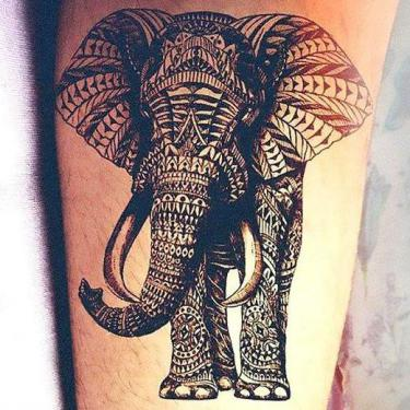Beautiful Indian Elephant Tattoo