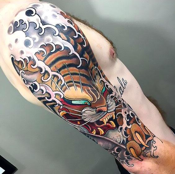 Beautiful Japanese Tiger Tattoo Idea