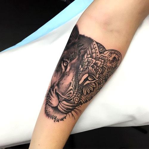 Beautiful Lioness Tattoo Idea