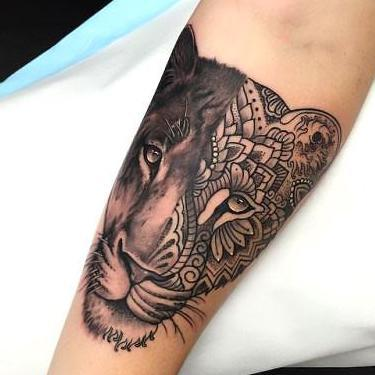 Beautiful Lioness Tattoo