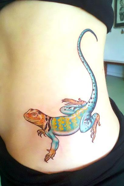 Beautiful Lizard Tattoo Idea