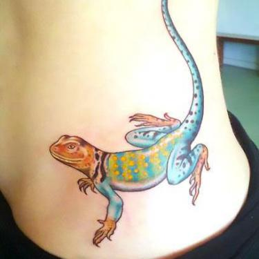 Beautiful Lizard Tattoo