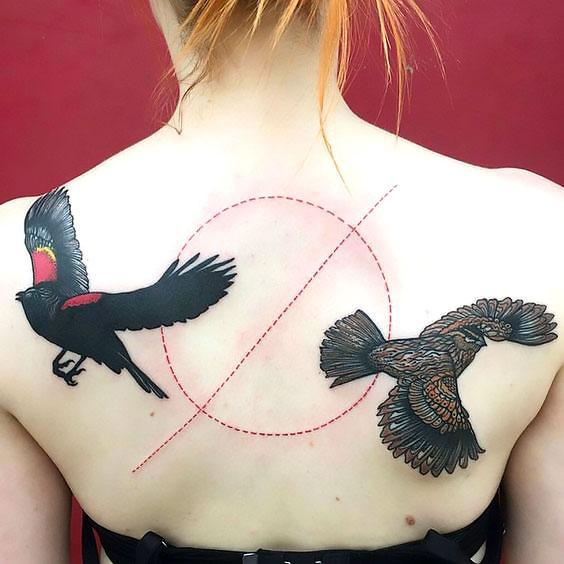Blackbird Tattoo on Shoulder Blade Tattoo Idea