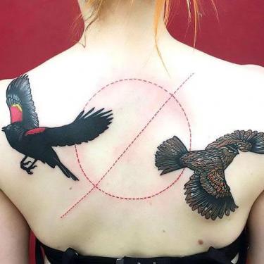 Blackbird Tattoo on Shoulder Blade Tattoo