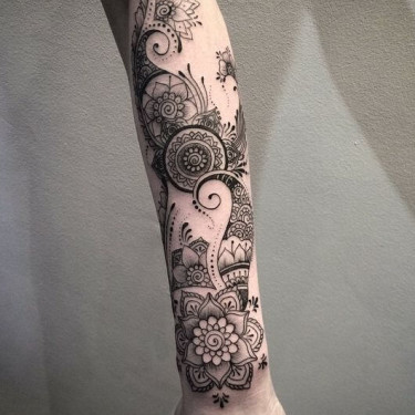 Sophisticated Sleeve Design Tattoo