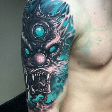 Blue Dragon Shoulder Tattoo