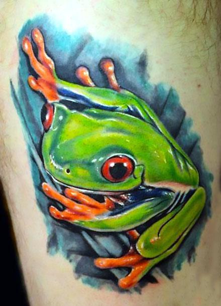 Beautiful Tree Frog Tattoo Idea