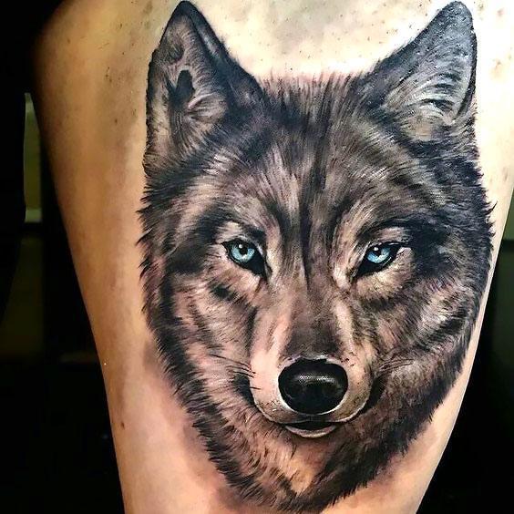 Beautiful Wolf Tattoo Idea