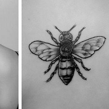 Bee on The Back Tattoo