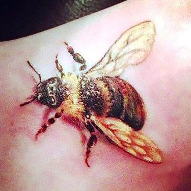 Bee on the Foot Tattoo