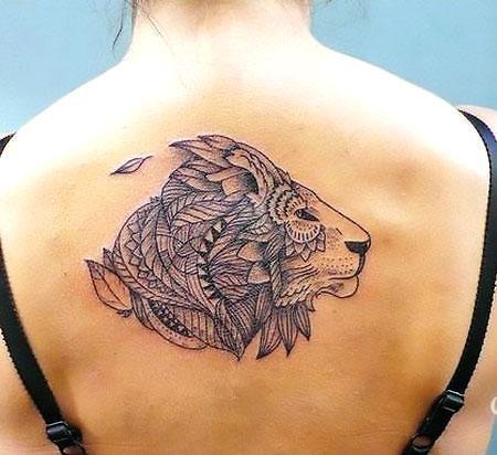 Best Back Lion Tattoo Idea