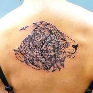 Best Back Lion Tattoo