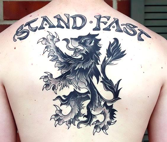 Best Scottish Lion Tattoo Idea