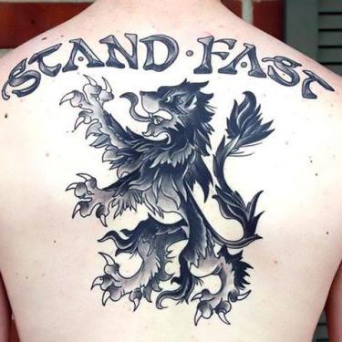 Best Scottish Lion Tattoo