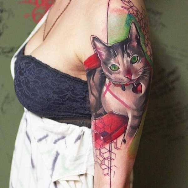 Sexy Cat Tattoo Idea