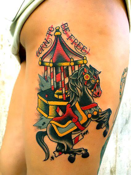 Best Traditional Horse Tattoo Idea