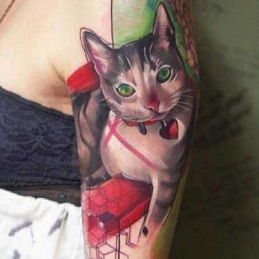 Sexy Cat Tattoo