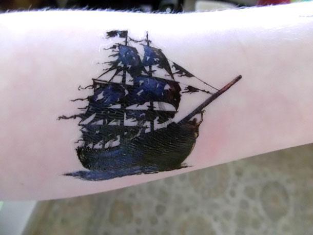 Black Pearl Tattoo Idea