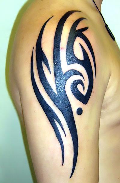 Black Tribal Tattoo Idea