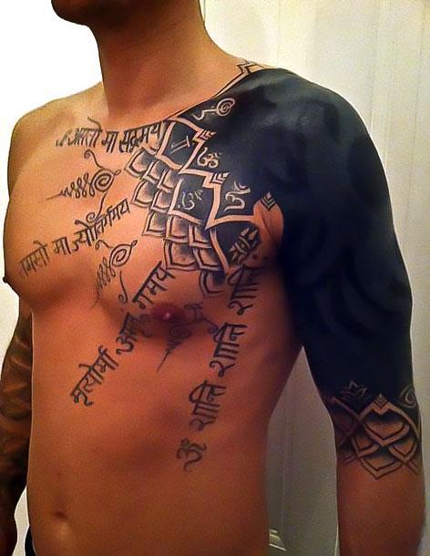 Blackwork Half Sleeve Tattoo Idea
