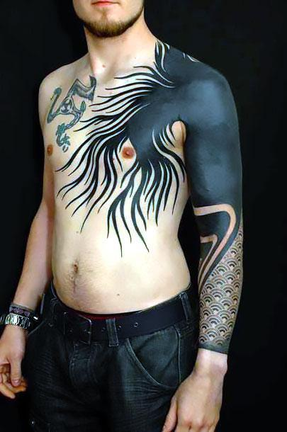 Blackwork Sleeve Tattoo Idea