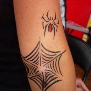 Common Spider Web Tattoo