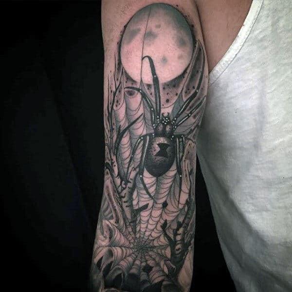 Black Widow Tattoo Idea