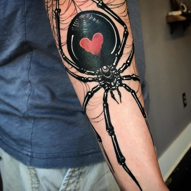 Big Black Widow Spider Tattoo