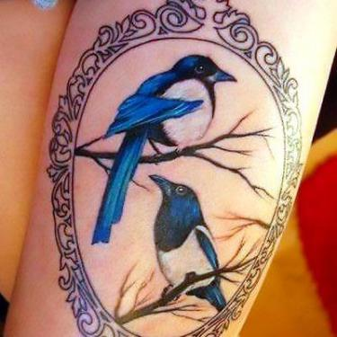 Bluebird Portrait Tattoo