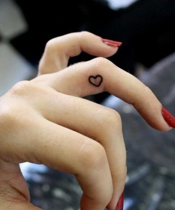 Hidden Mini Heart Tattoo Idea