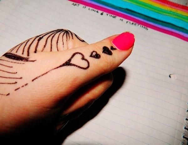 Dripping Heart Tattoo Idea