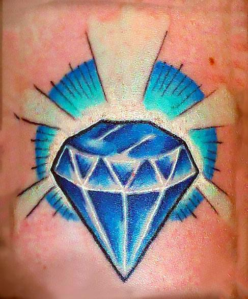 Blue Diamond Tattoo Idea