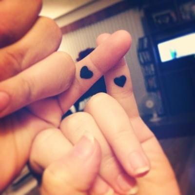 Mini Black Heart Tattoo Idea