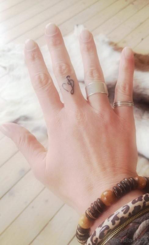 Musical Mini Heart Tattoo Idea