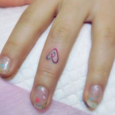 Fantastic Heart On Finger Tattoo