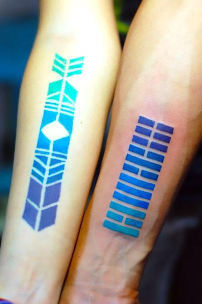 Blue Gradient Tattoo Idea