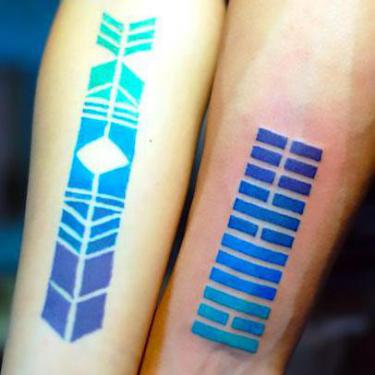 Blue Gradient Tattoo