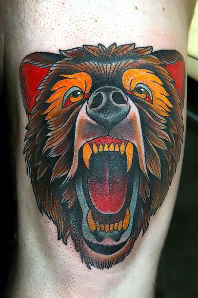 Big Bear Tattoo Idea