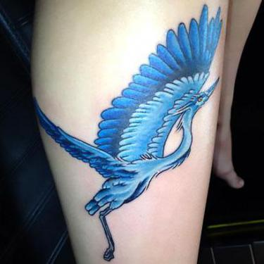 Blue Heron Tattoo