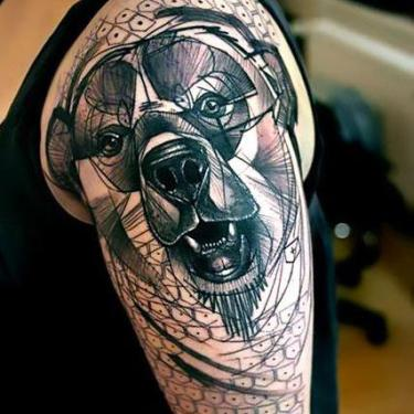Big Bear Head Tattoo