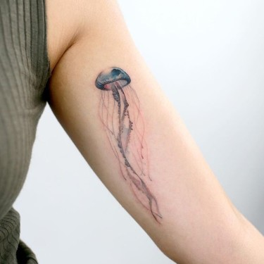 Delicate Jellyfish Tattoo