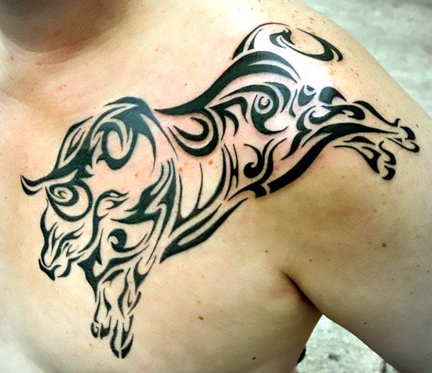 Big Riding Bull Tattoo Tattoo Idea
