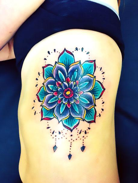 Blue Lotus Tattoo Idea