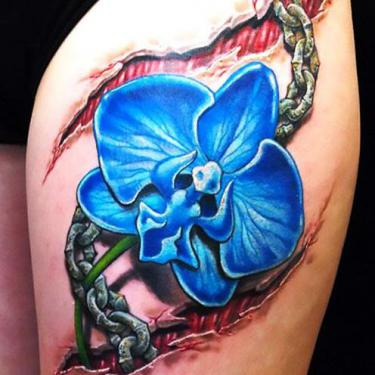 Blue Orchid Tattoo