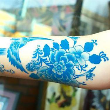 Blue Sleeve Tattoo